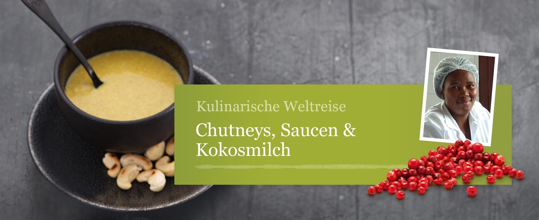 Chutneys, Saucen & Kokosmilch - Foto: GEPA - The Fair Trade Company / Sandra Eckhardt Fotografie