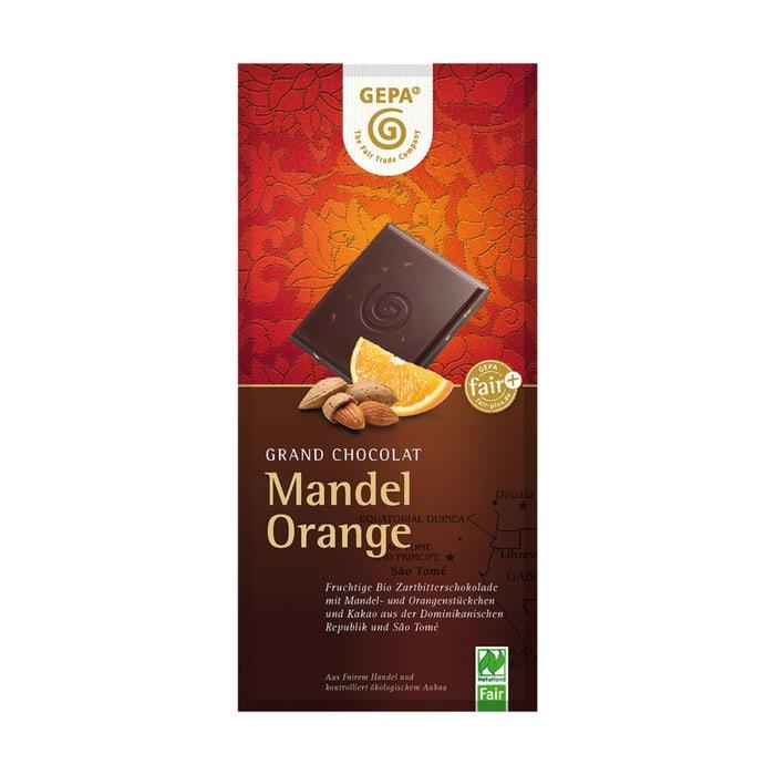 Bio Schokolade Mandel Orange