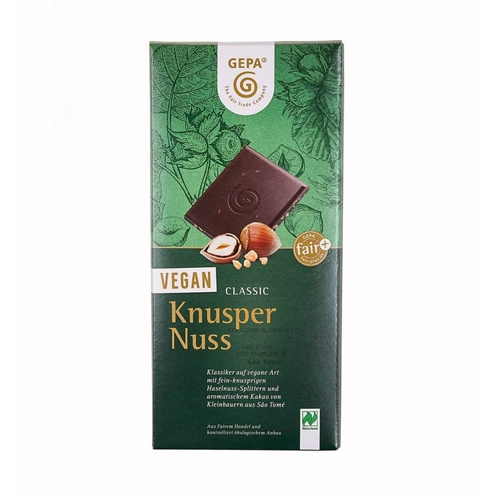 Bio Vegane Schokolade Classic Knusper Nuss