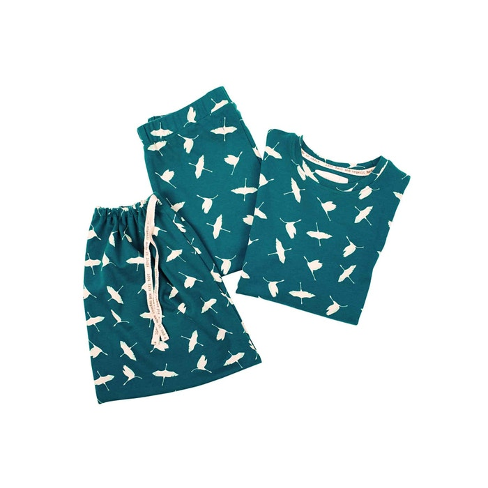 Pyjama für Kinder, blau Vögel, Größe 122/128