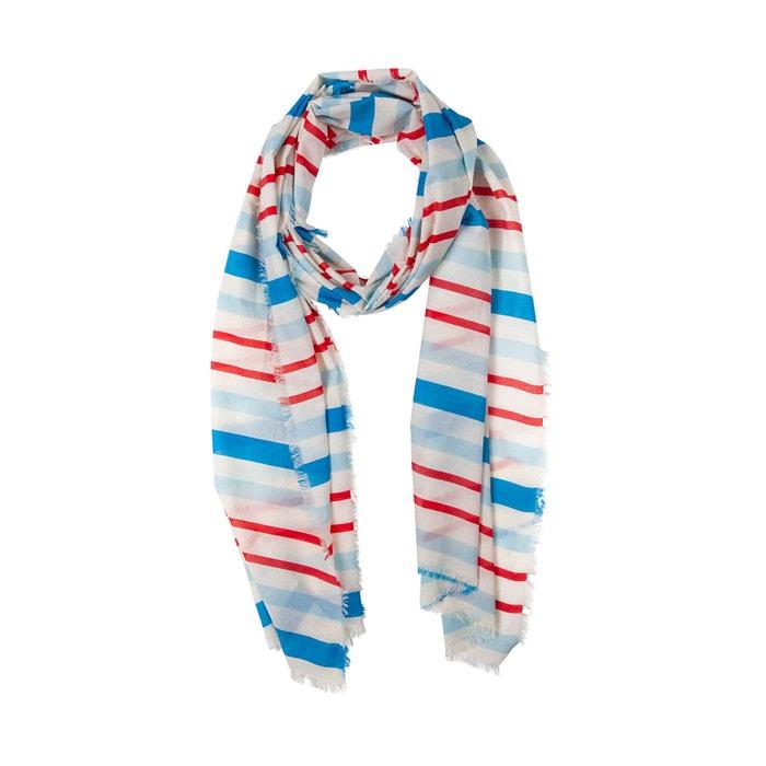 Schal Streifen rot / blau