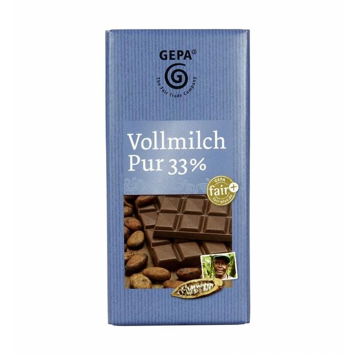 GEPA Schokolade Vollmilch Pur 33%