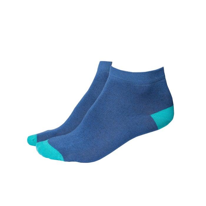 Sneaker Socken blau / türkis, Gr. 39-42