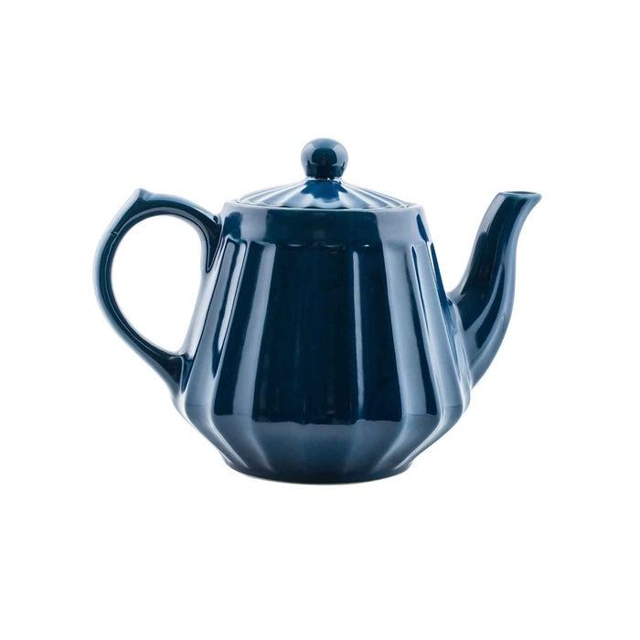Teekanne Flora dunkelblau