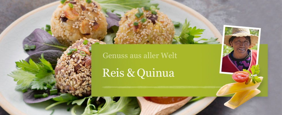 Reis und Quinoa