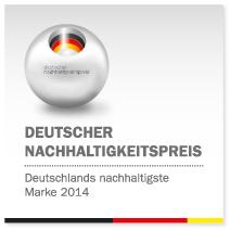 """Auszeichnung als """"Deutschlands nachhaltigste Marke"""""""