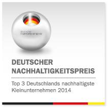 """TOP3 in der Kategorie """"Deutschlands nachhaltigste Kleinunternehmen"""""""