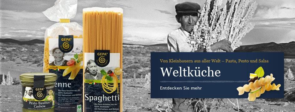 Weltküche – Fair Trade Pasta, Pesto und Salsa