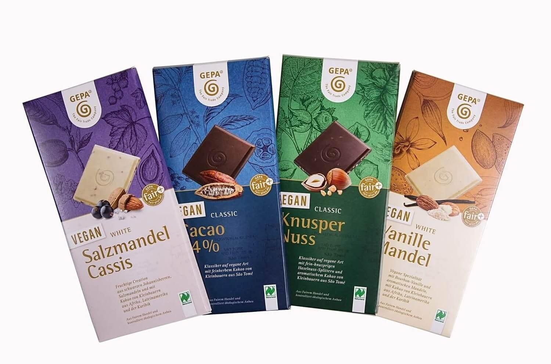 Vegane Schokolade von GEPA